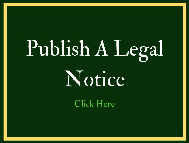 Publish a Legal Notice